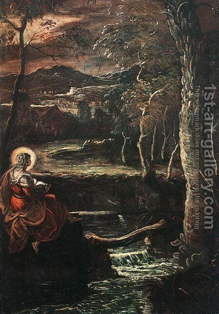 St Mary of Egypt by Jacopo Tintoretto (Robusti) - Reproduction Oil Painting