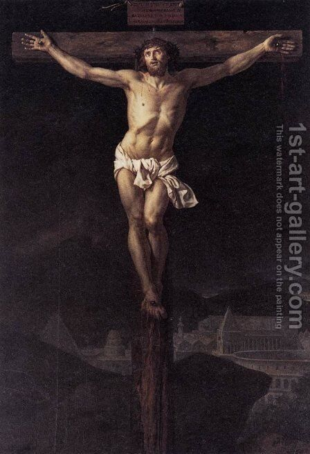 Christ on the Cross by Jacques Louis David - Reproduction Oil Painting