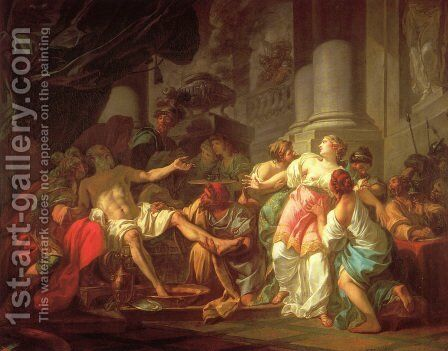 The Death of Seneca by Jacques Louis David - Reproduction Oil Painting