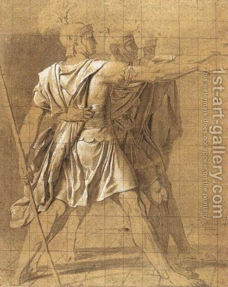 The Three Horatii Brothers by Jacques Louis David - Reproduction Oil Painting