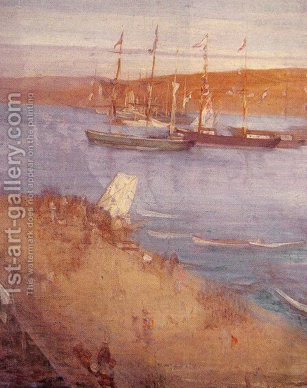 The Morning after the Revolution, Valparaiso by James Abbott McNeill Whistler - Reproduction Oil Painting