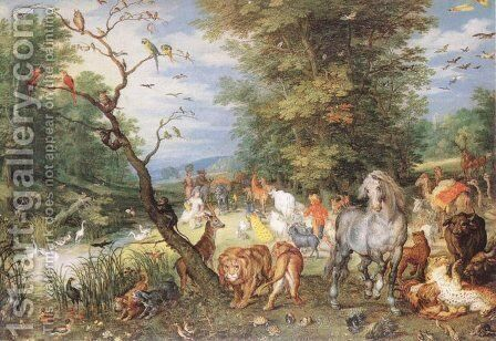 The Animals Entering the Ark by Jan The Elder Brueghel - Reproduction Oil Painting