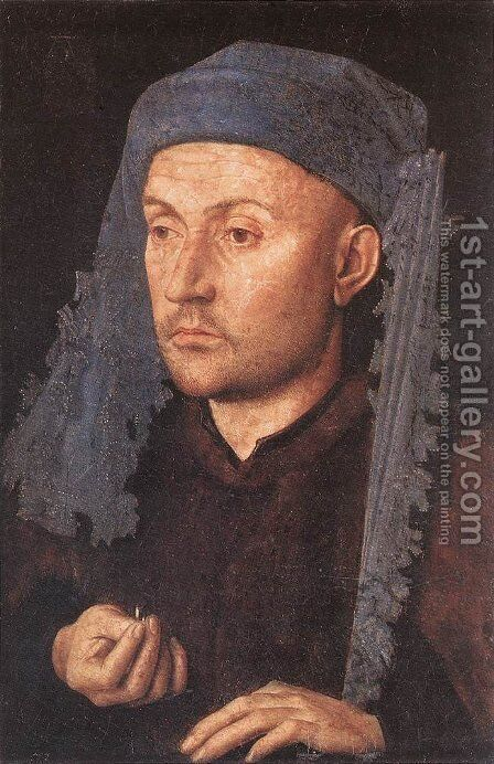 Portrait of a Goldsmith (Man with Ring) by Jan Van Eyck - Reproduction Oil Painting