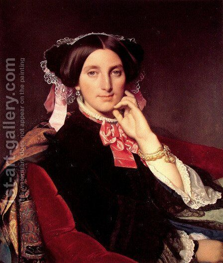 Madame Henri Gonse by Jean Auguste Dominique Ingres - Reproduction Oil Painting