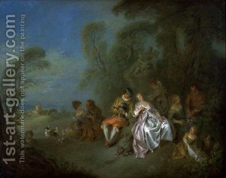 Fete Champetre 2 by Jean-Baptiste Joseph Pater - Reproduction Oil Painting