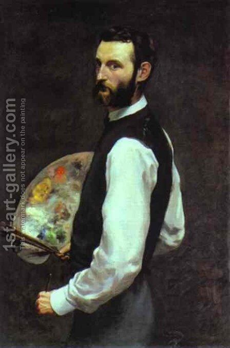 Self-portrait 2 by Jean Frédéric Bazille - Reproduction Oil Painting