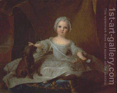 Marie Zephirine of France by Jean-Marc Nattier - Reproduction Oil Painting
