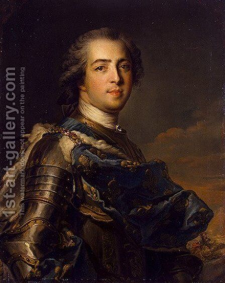 Portrait of Louis XV of France by Jean-Marc Nattier - Reproduction Oil Painting