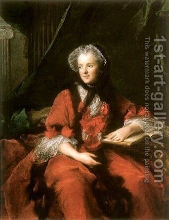 Portrait of Madame  Maria Leszczynska by Jean-Marc Nattier - Reproduction Oil Painting