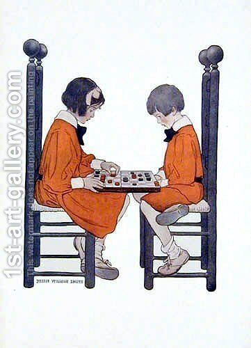 A friendly game by Jessie Wilcox-Smith - Reproduction Oil Painting