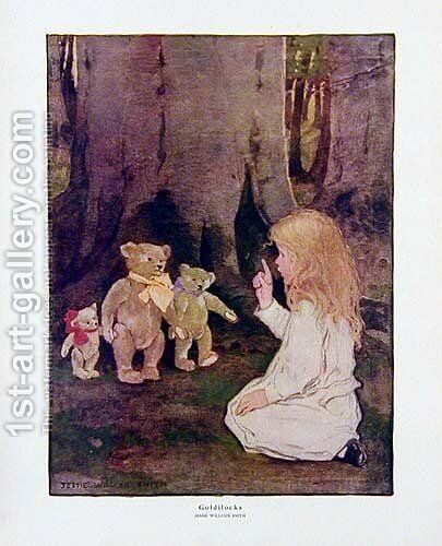Goldilocks by Jessie Wilcox-Smith - Reproduction Oil Painting