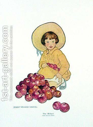 The Helper by Jessie Wilcox-Smith - Reproduction Oil Painting