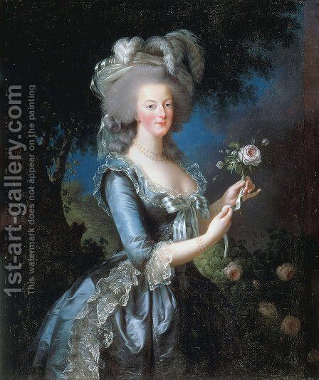 Portrait of Marie Antoinette by Elisabeth Vigee-Lebrun - Reproduction Oil Painting