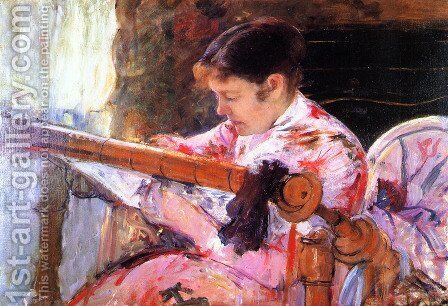 Lydia at the Tapestry Loom by Mary Cassatt - Reproduction Oil Painting