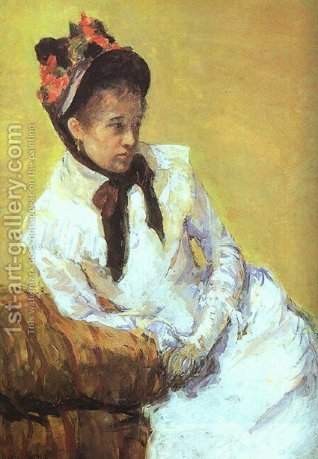 Self Portrait 2 by Mary Cassatt - Reproduction Oil Painting