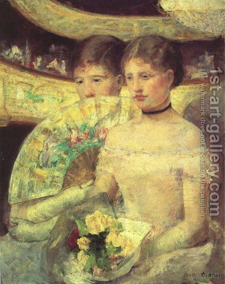 The Loge by Mary Cassatt - Reproduction Oil Painting