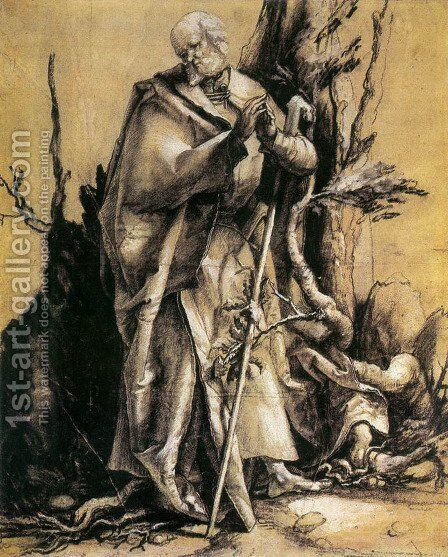 St John in the Forest by Matthias Grunewald (Mathis Gothardt) - Reproduction Oil Painting