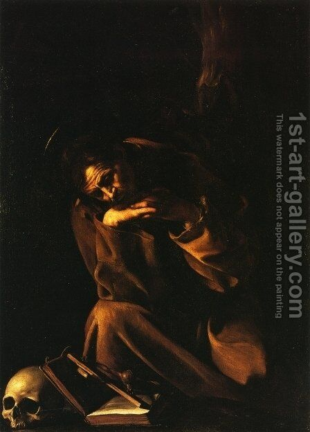 St. Francis by Caravaggio - Reproduction Oil Painting