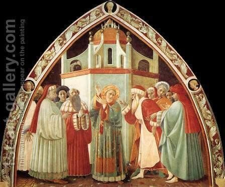 Disputation of St Stephen by Paolo Uccello - Reproduction Oil Painting
