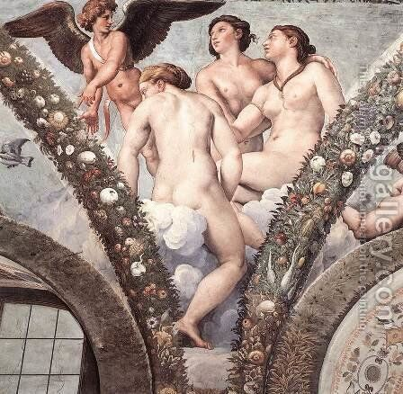 Cupid and the Three Graces by Raphael - Reproduction Oil Painting