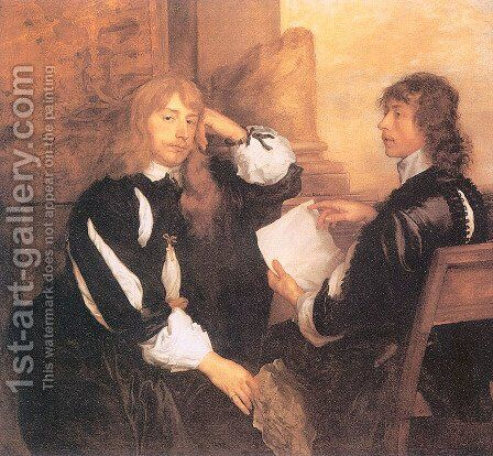 Thomas Killigrew and William, Lord Crofts by Sir Anthony Van Dyck - Reproduction Oil Painting