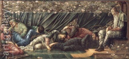 Council Chamber by Sir Edward Coley Burne-Jones - Reproduction Oil Painting