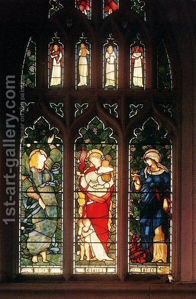 Faith, Hope and Charity by Sir Edward Coley Burne-Jones - Reproduction Oil Painting