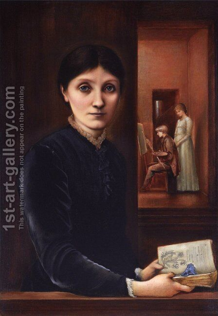Georgiana Burne Jones 2 by Sir Edward Coley Burne-Jones - Reproduction Oil Painting