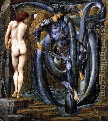 The Doom Fulfilled by Sir Edward Coley Burne-Jones - Reproduction Oil Painting