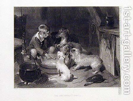 The Breakfast Party by Sir Edwin Henry Landseer - Reproduction Oil Painting