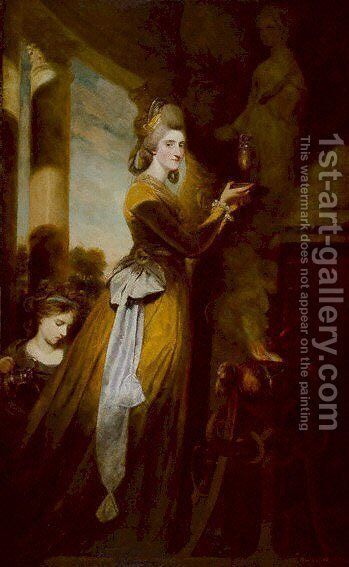 Mrs Peter Beckford by Sir Joshua Reynolds - Reproduction Oil Painting