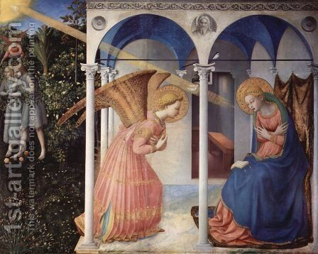 Altarpiece of the Annunciation by Angelico Fra - Reproduction Oil Painting
