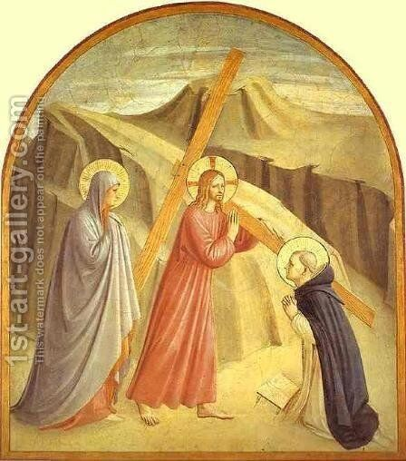 Christ Carrying The Cross by Angelico Fra - Reproduction Oil Painting