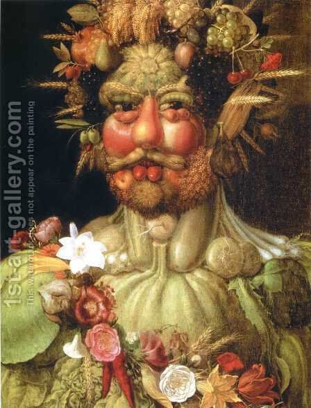 Vertumnus by Giuseppe Arcimboldo - Reproduction Oil Painting