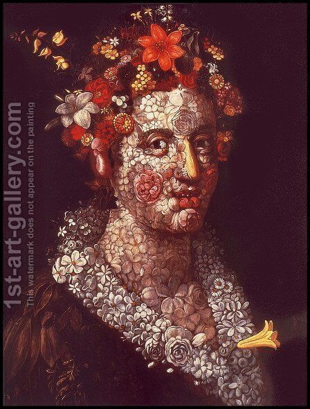 Flora by Giuseppe Arcimboldo - Reproduction Oil Painting