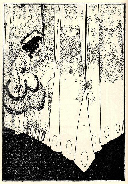 Dream by Aubrey Vincent Beardsley - Reproduction Oil Painting