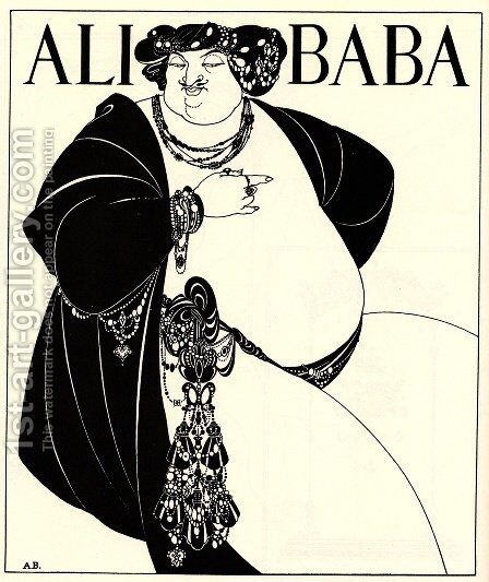Ali Baba by Aubrey Vincent Beardsley - Reproduction Oil Painting