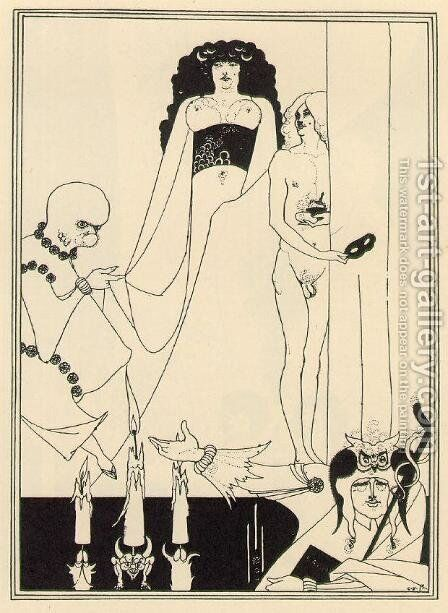 Enter Herodias by Aubrey Vincent Beardsley - Reproduction Oil Painting