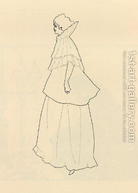 Madame Rejane by Aubrey Vincent Beardsley - Reproduction Oil Painting