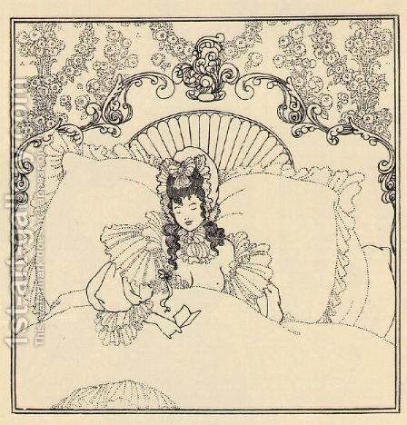 The Billet-Doux by Aubrey Vincent Beardsley - Reproduction Oil Painting