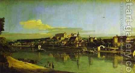 Pirna Seen from the Right Bank of the Elbe by Bernardo Bellotto (Canaletto) - Reproduction Oil Painting