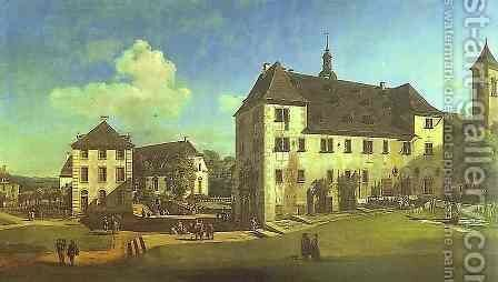 Courtyard of the Castle at Köningstein from the South 2 by Bernardo Bellotto (Canaletto) - Reproduction Oil Painting
