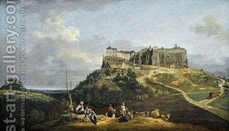 The Fortress of Königstein by Bernardo Bellotto (Canaletto) - Reproduction Oil Painting
