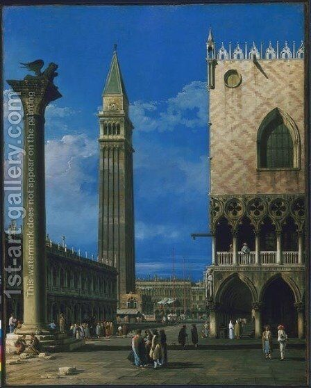 The Piazzetta, Venice by Bernardo Bellotto (Canaletto) - Reproduction Oil Painting