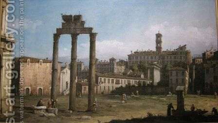 Ruins of the Forum, Rome by Bernardo Bellotto (Canaletto) - Reproduction Oil Painting