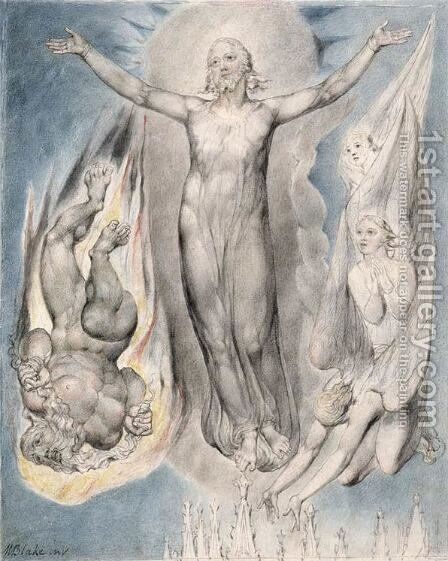 Christ on the Pinnacle of the Temple by William Blake - Reproduction Oil Painting