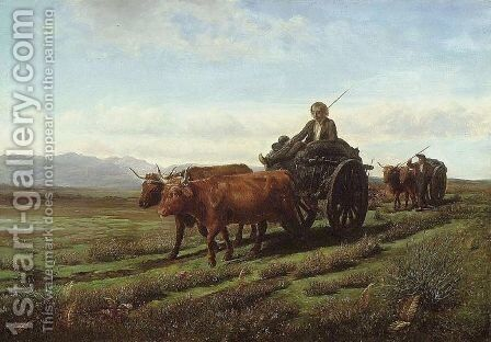 Going to Market by Rosa Bonheur - Reproduction Oil Painting