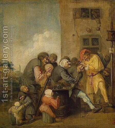 The Village Charlatan by Adriaen Brouwer - Reproduction Oil Painting