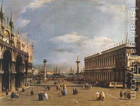 The Piazzetta by (Giovanni Antonio Canal) Canaletto - Reproduction Oil Painting