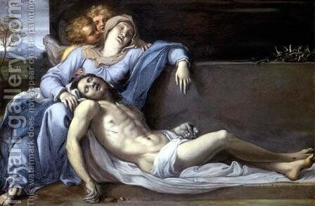 Lamentation of Christ by Annibale Carracci - Reproduction Oil Painting